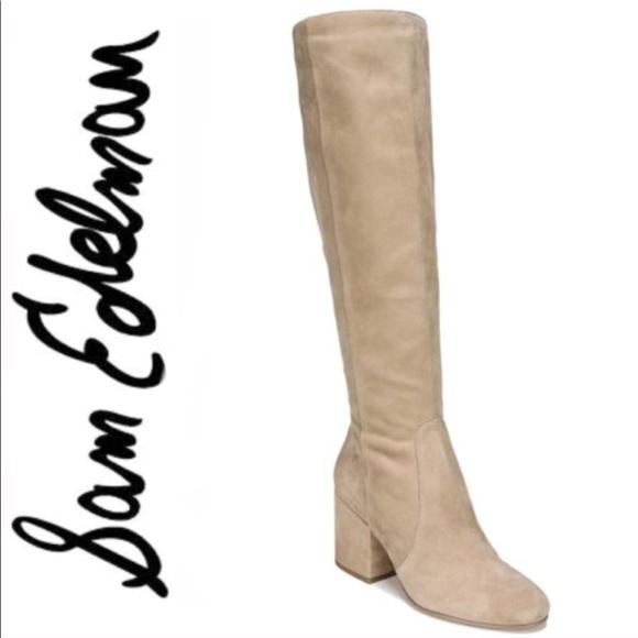 59904acf35aa Sam Edelman Oatmeal Thora Knee High Boot Size 7.5